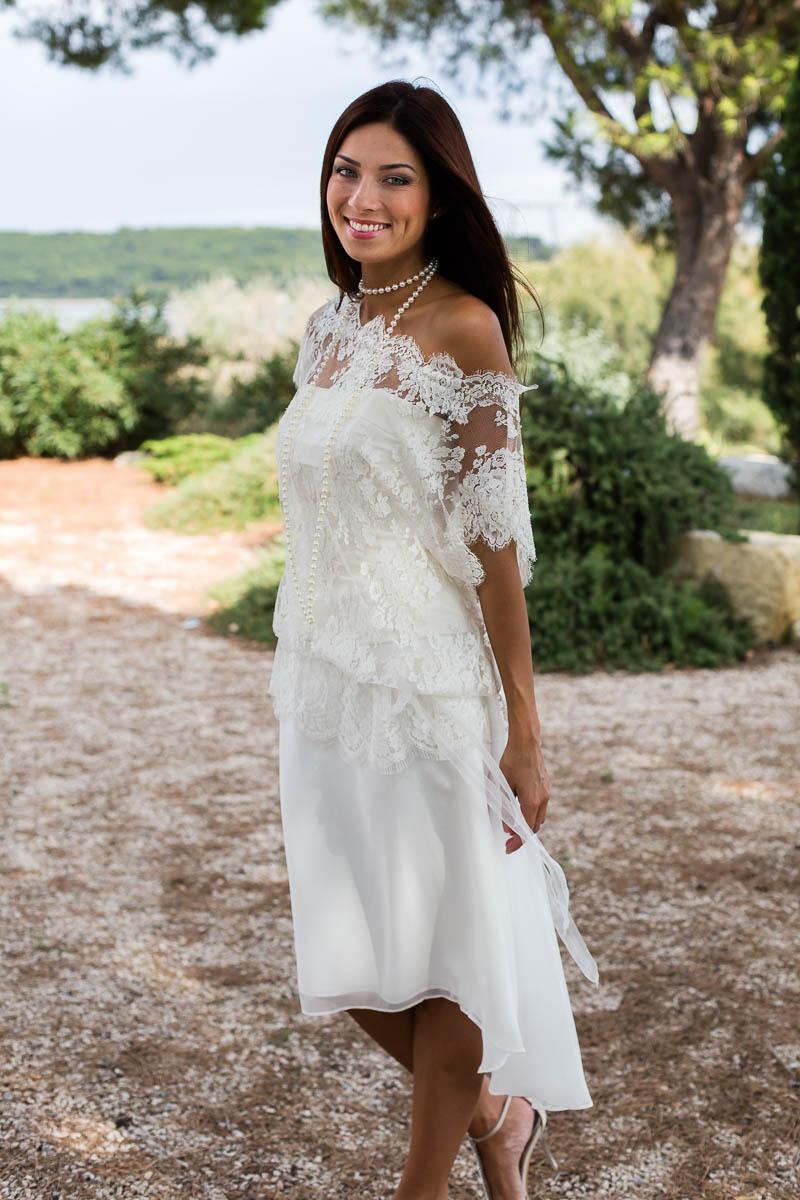 Robe de mariée courte style bohème